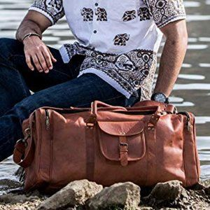 NWT KOMA 21 Inch Vintage Leather Duffel